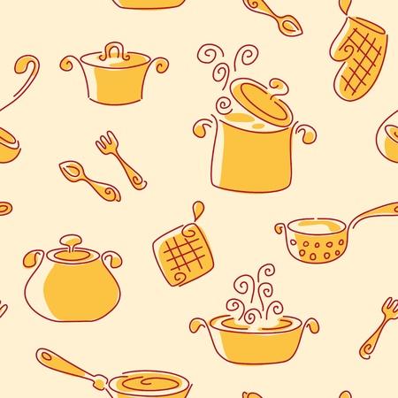 ladle: Seamless utensil pattern