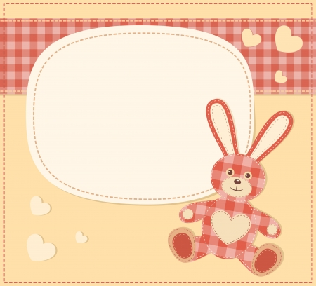 Card with the hare for baby shower Stock Vector - 15381611