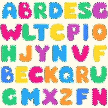 alphabet: Nahtlose Kindern s hellen Alphabet Muster Illustration
