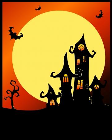 Terrible halloween castle Stock Vector - 15381604