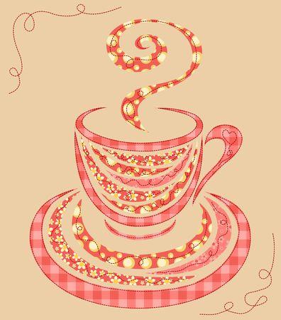 manta de retalhos: Patchwork copo de caf�