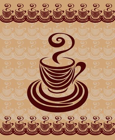 chocolate swirl: Coffee cup card 1