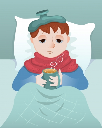 cold virus: Sick boy