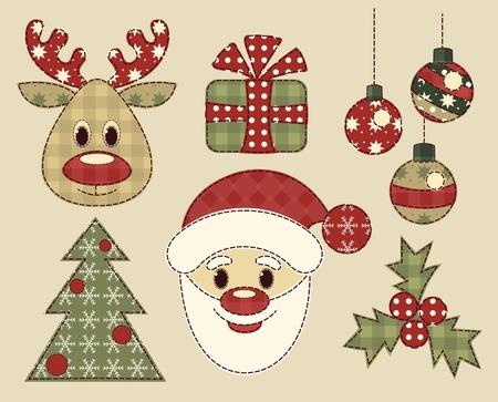Jeu de photos d'époque pour Noël Banque d'images - 16539660