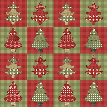 Kerstboom naadloze patroon 1 Stock Illustratie