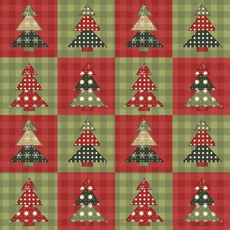 Christmas tree  seamless pattern 3  イラスト・ベクター素材