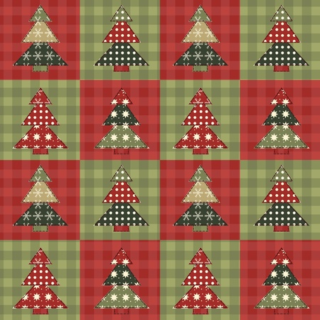 Christmas tree  seamless pattern 3 Vector