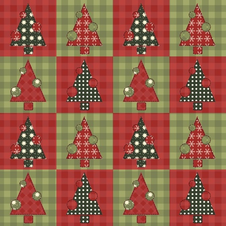 Christmas tree  seamless pattern 4 Vector