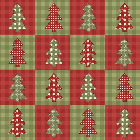 Christmas tree  seamless pattern 6 Vector