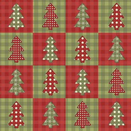 homespun: �rbol de Navidad seamless 6