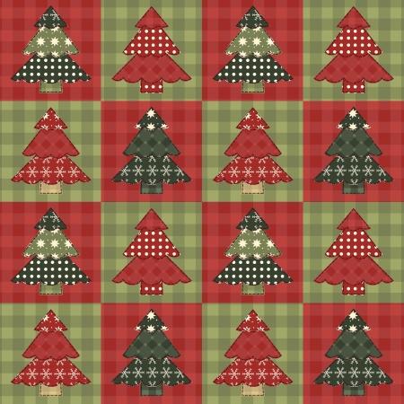 homespun: �rbol de Navidad sin patr�n 5 Vectores