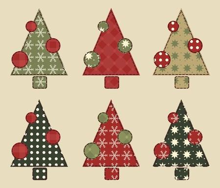 Christmas tree  set 2 Vector