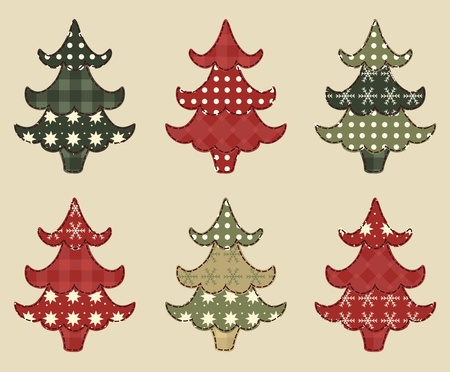 Christmas tree  set 1 Stock Vector - 16539659