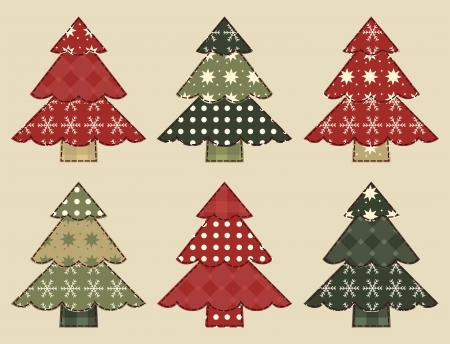 Christmas tree  set 3 Vector