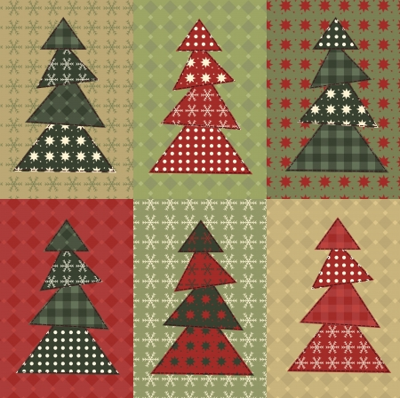homespun: Christmas tree  set 8 Illustration