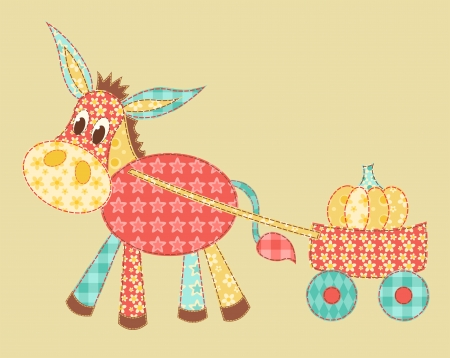 patchwork pattern: Burro patchwork Illustration