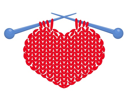hilo rojo: Coraz�n hecho punto aislado Vectores