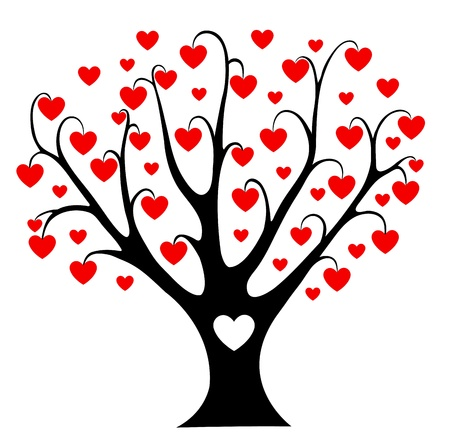 Hearts tree  Stock Vector - 17552201