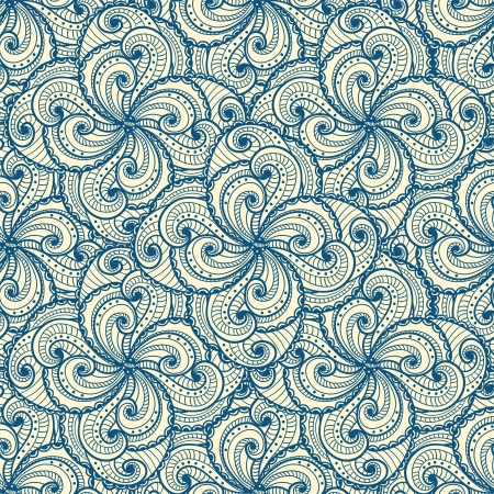 Floral beautiful blue seamless pattern Stock Vector - 18197492