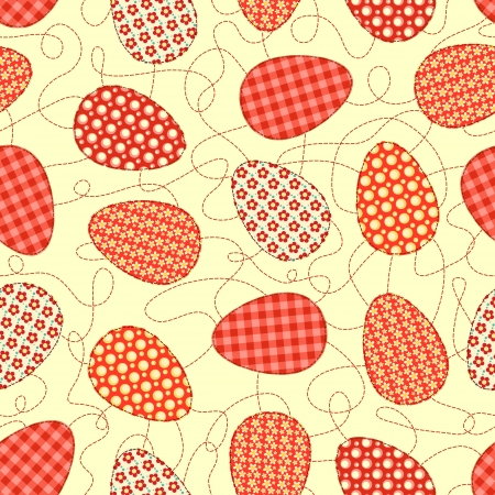 Easter yellow seamless pattern  Vector