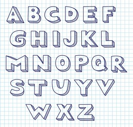 alphabetical order: Scribble alphabet