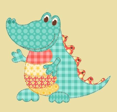 applique flower: Crocodile
