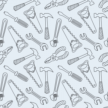 Tools seamless line pattern Stock Vector - 19612754