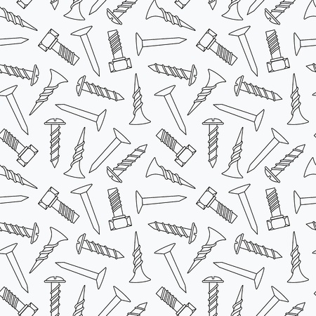 Nails and screws seamless pattern Stock Vector - 19612755