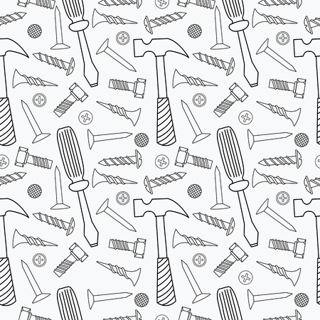 Tools seamless pattern Vector