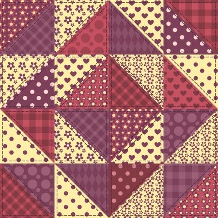 claret: Seamless patchwork claret color pattern.  Illustration