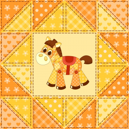 Application horse seamless. Cildren vector background. Vector