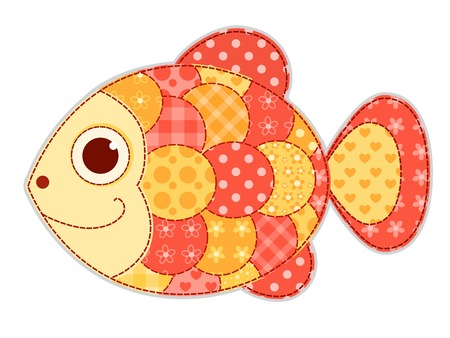 blanket fish: Application fish isolated. Children vector illustration. Illustration
