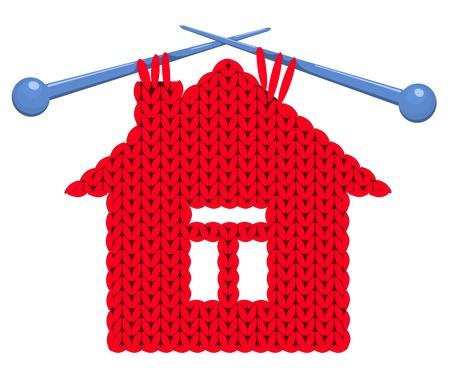 spokes: La casa tricotado en radios. Ilustraci�n del vector.