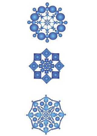 chill: snowflakes Stock Photo