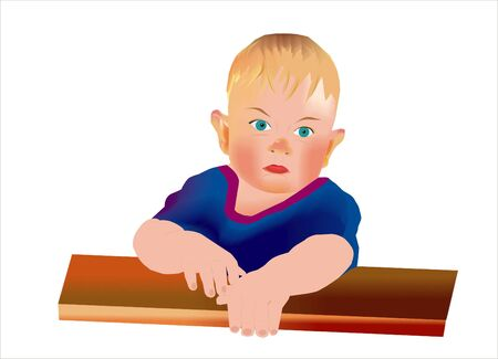 resentful: the table sits a little sad child