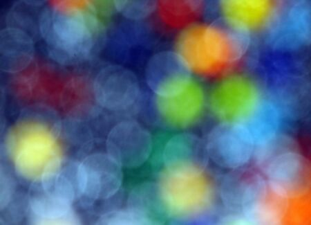 slur: blue background of colored circles