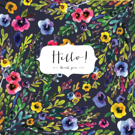 Watercolor seamless  pattern with pansies. Background for web pages, wedding invitations, save the date cards, textile Ilustração