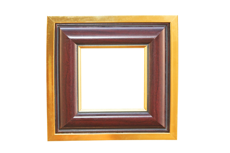 Golden and brown picture frame Stock Photo
