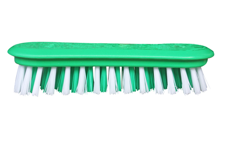 Green plastic brush with green and white bristles for cleaning clothes,Washing brush