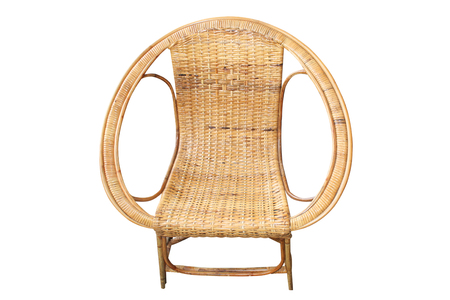 isolated weaving of rattan chair