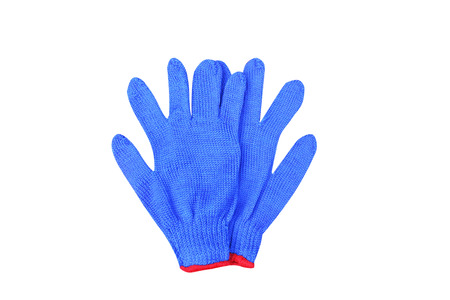 Couple blue gloves isolated on a white background