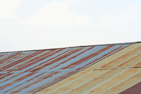 Zinc roof and sky Standard-Bild