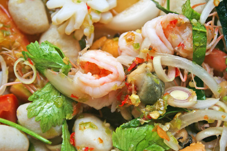 Spicy seafood salad,Thai food