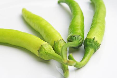 Świeże duże zielone chili zbliżenie zdjęcie