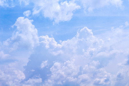 Cloud on bright bluesky background in summer day