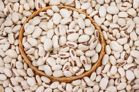 Top view  jack beans or canavalia ensiformis seeds nature texture for background