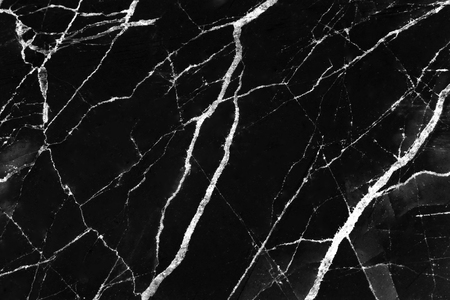 Black marble texture with white line patterns abstract for background Stock Photo