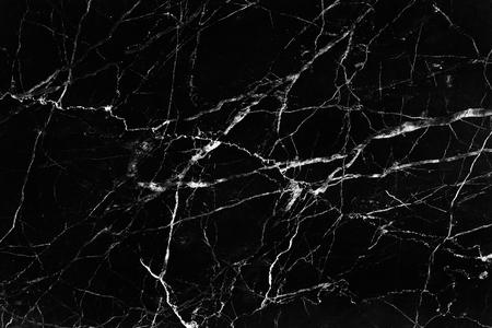 Trama di marmo nero con sfondo di modelli di linea bianca della natura