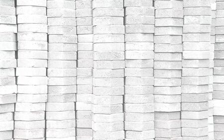 Blocks pavement stack in layer patterns texture , gray construction background