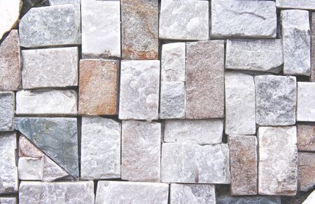Stone wall texture in square pattern abstract for background